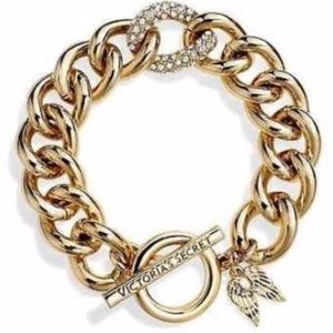 Victoria's Secret Chain Link Charm Bracelet Gold